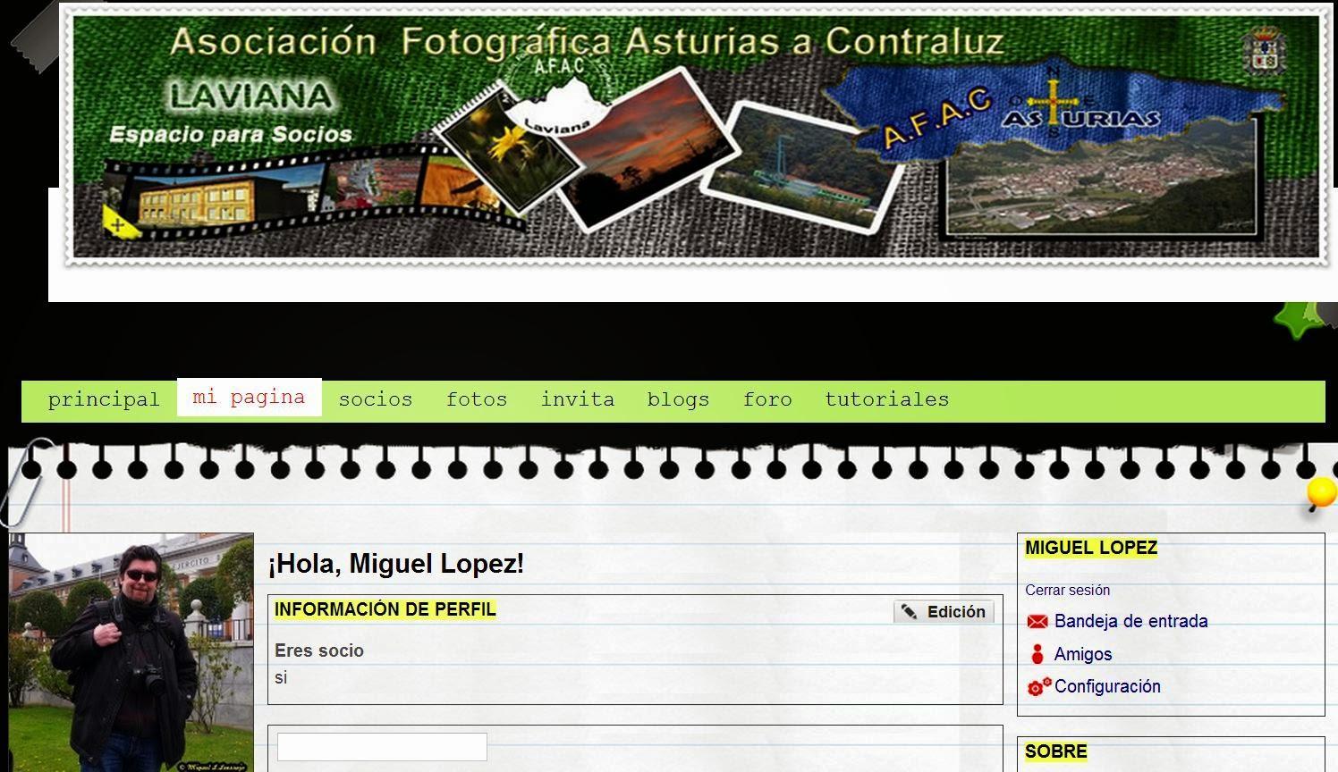 Mi pàgina en Asociaciòn Fotogràfica A contra Luz