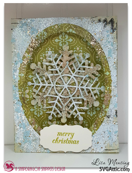 SVG Attic Tent Card and JGW Snow Flurries Merry Christmas