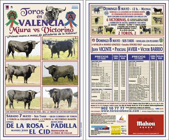 Comunidad taurina corrida de la virgen de mayo en valencia for Oficinas seur valencia