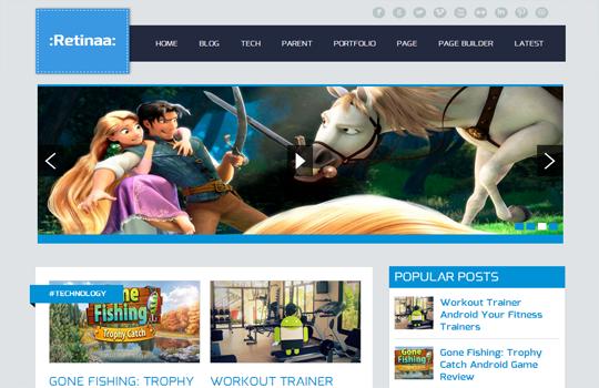 retinaa Top best premium blogger templates free