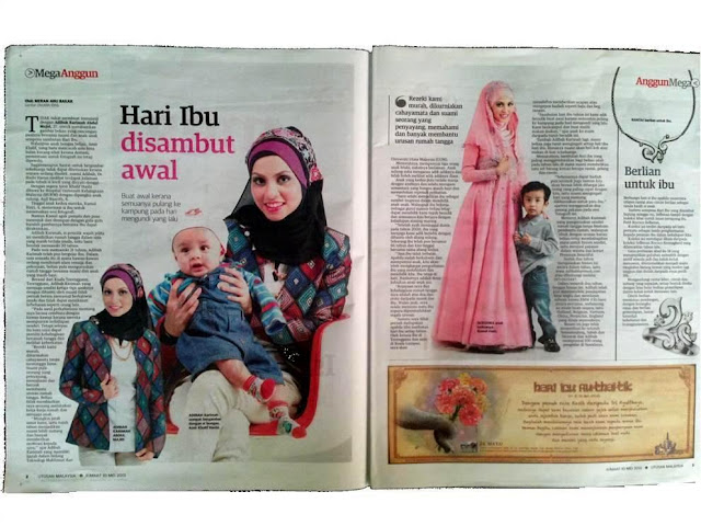 CDM Adibah Karimah in Utusan Malaysia today in celebration of Mother's Day