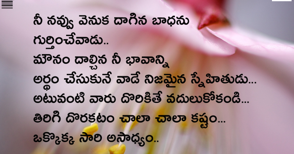 Telugu Best Inspirational Friendship quotations with ...
