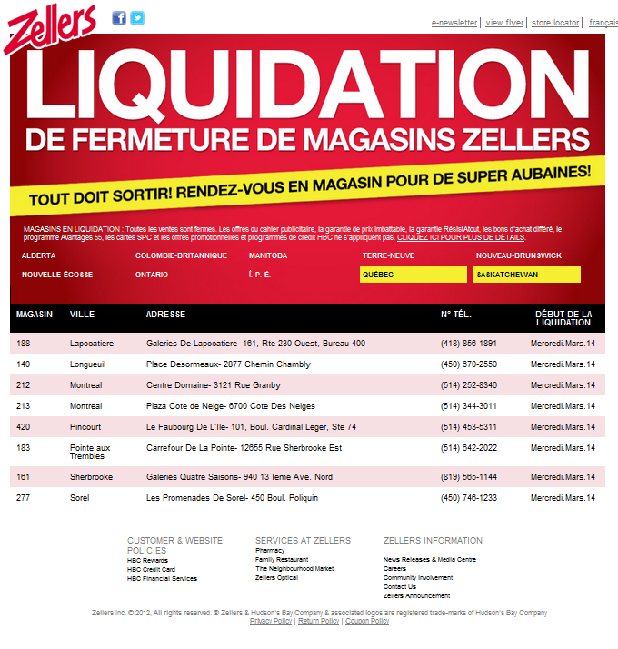 Vente d 39 entrepot zellers iphone sales for Entrepot de liquidation
