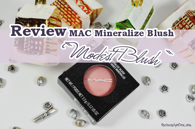 MAC Heirloom Mix Collection Mineralize Blush MODEST BLUSH