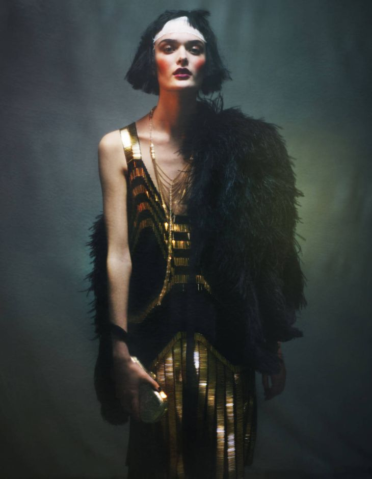 Art Deco Glamour Sam Rollinson By Damian Foxe Glamouria In Fashion