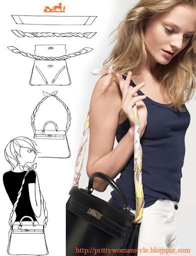 дръжка на чанта от шал