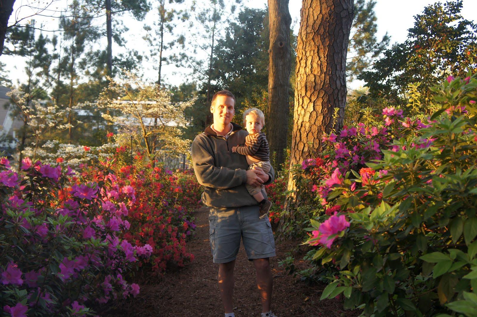 David and Allison: WRAL Azalea Gardens