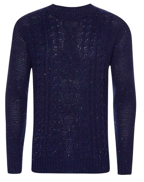 Primark Farrell: jersey ajustado para hombre en azul oscuro