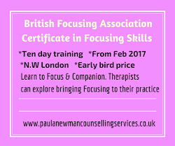 British Focusing Assoc Certificate in Focusing Skills. Early Bird reduced price until Nov 30th