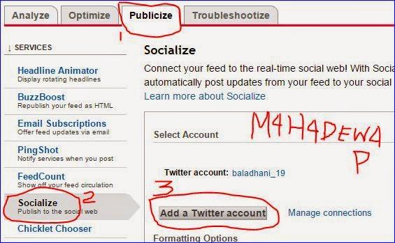 cara menghubungkan blog dengan twitter lewat feedburner