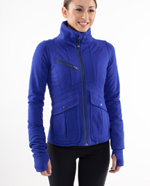 lululemon it's happening jacket in pigment blue