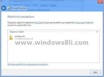 windows 8 dosya paylaşma