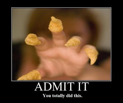 Admit it, you totally did this. Put Bugles on your fingers like claws.