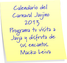 AGENDA CULTURAL JAUJINA