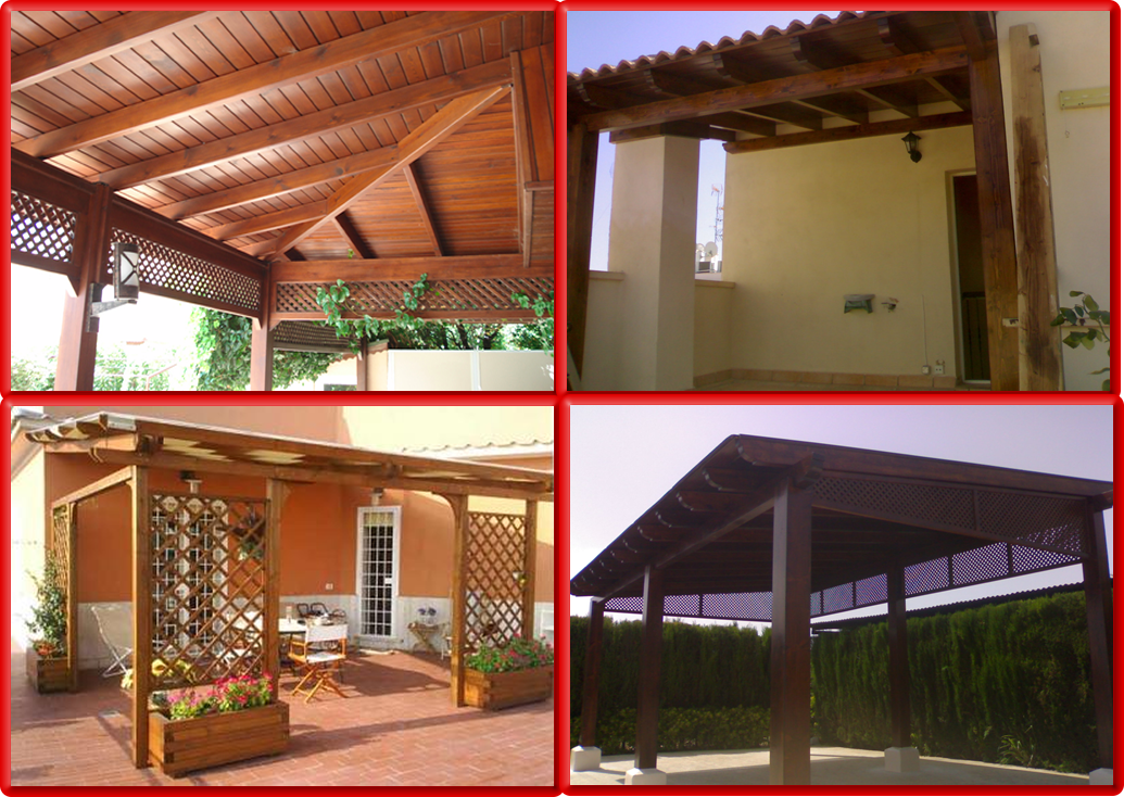 Pergolas y porches de madera innovation for Porches de madera
