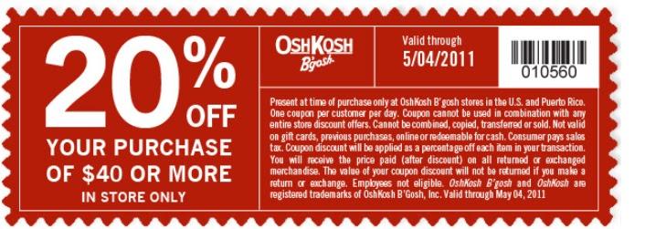 Osh discount coupon