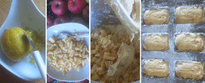 Zubereitung Apfel-Zimt-Minikuchen