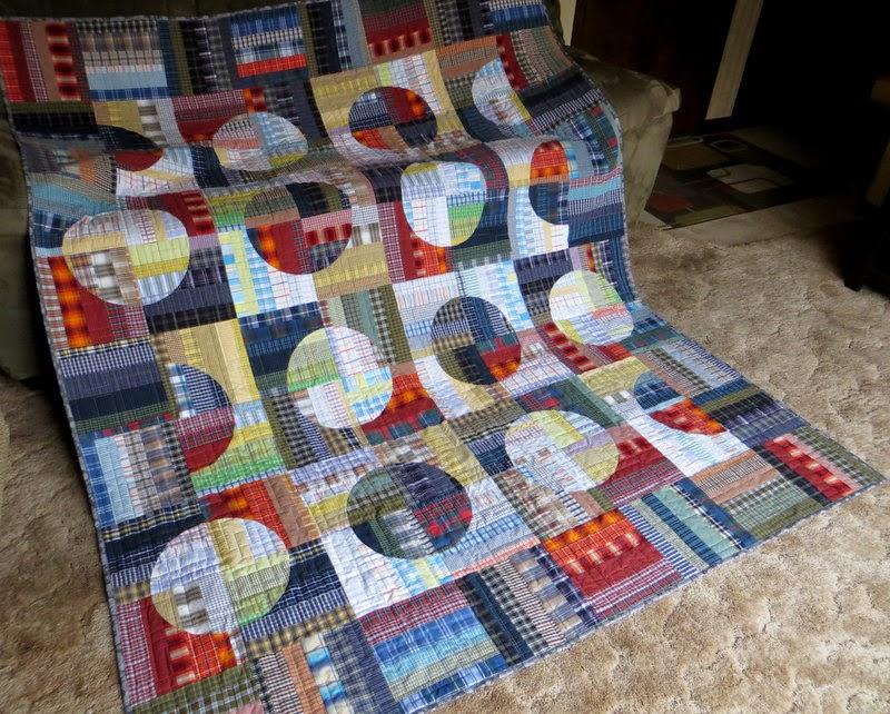 The Way I Sew It Plaid Circles Quilt
