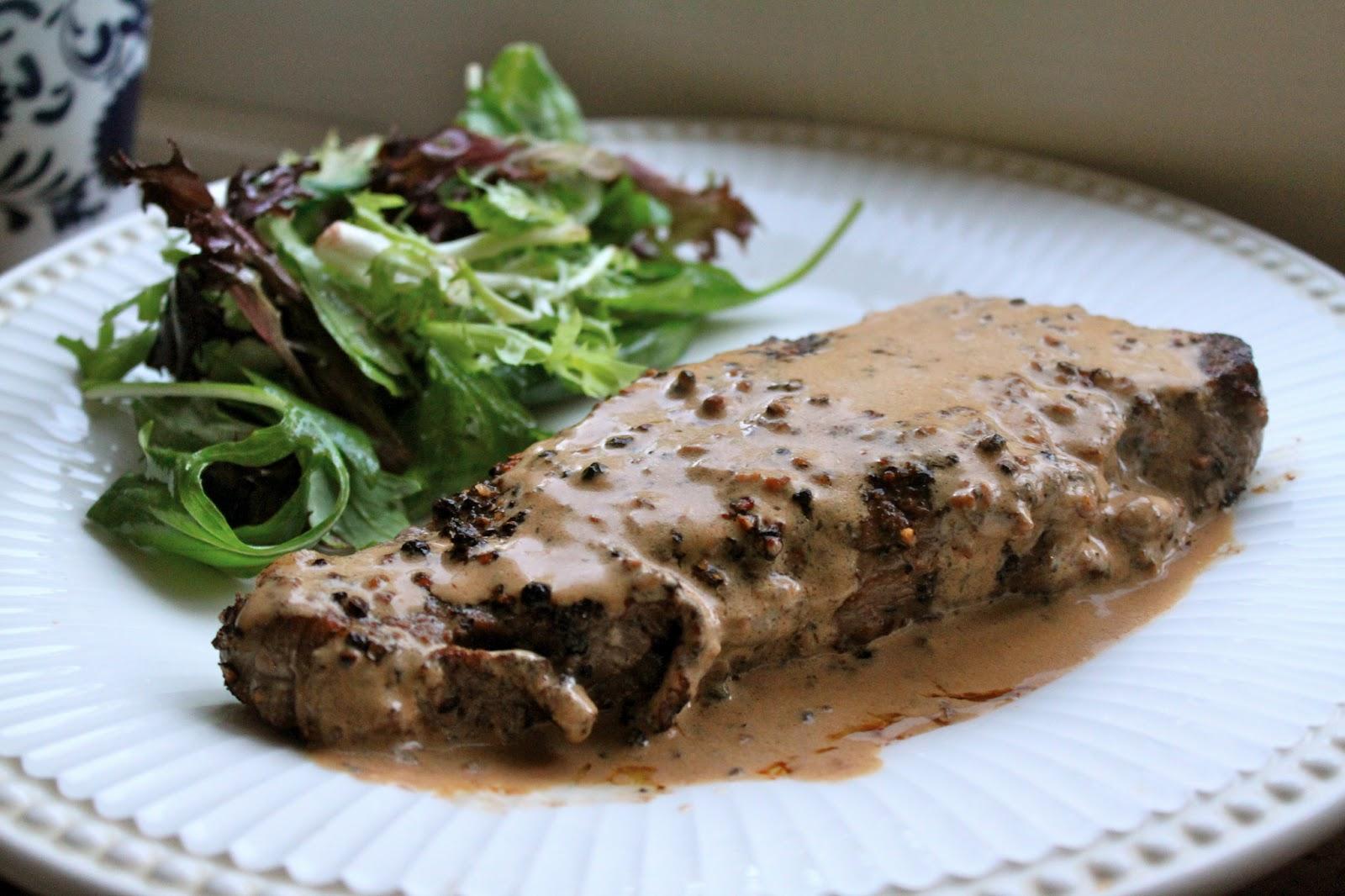 Steak au Poivre (Peppered Steak) – A Luxury Mid-Week Meal ...