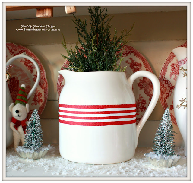 Farmhouse Christmas Kitchen-Ironstoen Pitcher-From My Front Porch To Yours