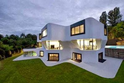 contoh desain rumah model eropa modern klasik gambar