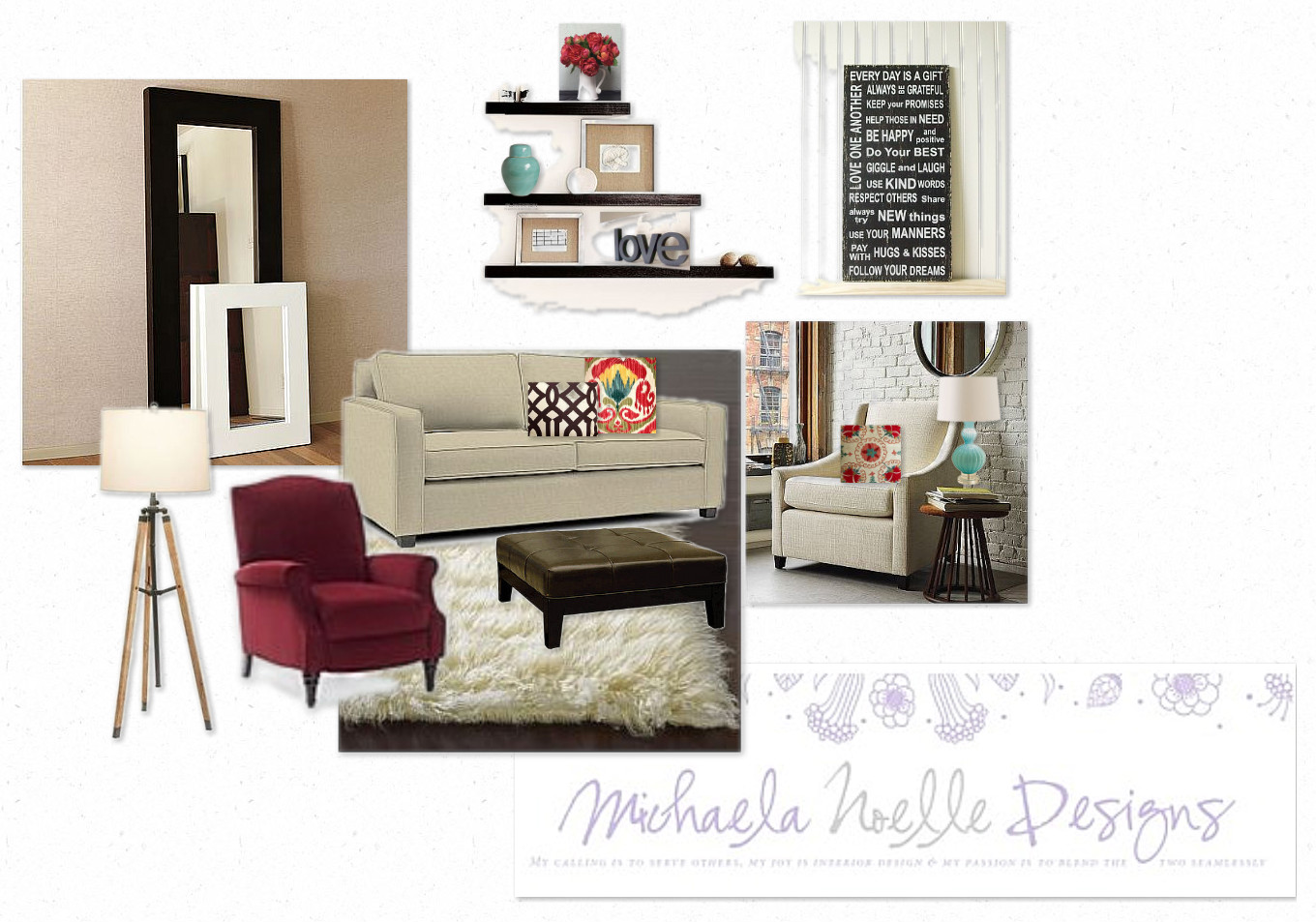 Pops of Red - Michaela Noelle Designs