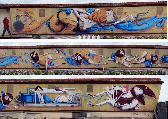 Zed1 sea recycling new mural in viareggio italy streetartnews streetartnews - Bagno milano viareggio ...