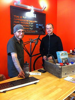 Chase and Matt from Reser Bicycle Outfitters OTR