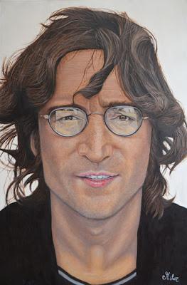 John Lennon Pintura Al Oleo
