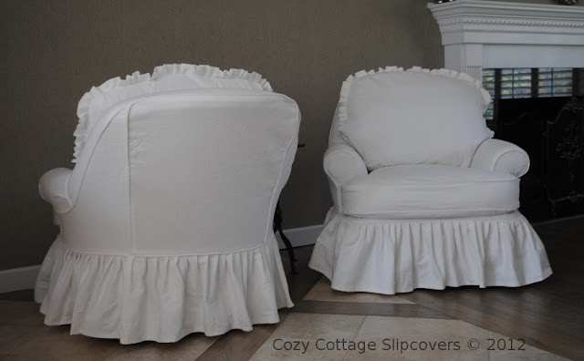 Cozy Cottage Slipcovers Linen Look With Ruffles