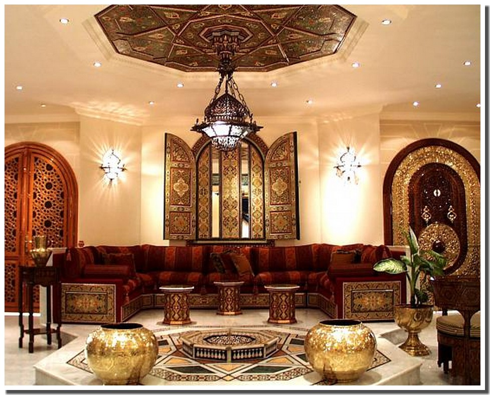 home salon marocain traditionnel avec touche - Photo Salon Arabe