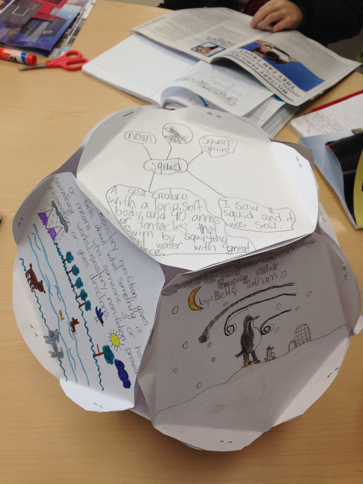 Dodecahedron project my life in verbs for Creative ways to make a book for a project