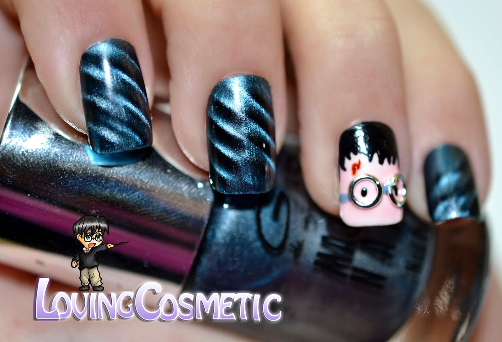 Harry Potter Nails nail art bornprettystore BPS acrylic nails magnetic uñas diseño uñas