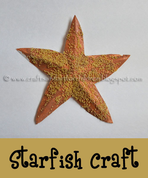 Starfish Craft & Printable Template