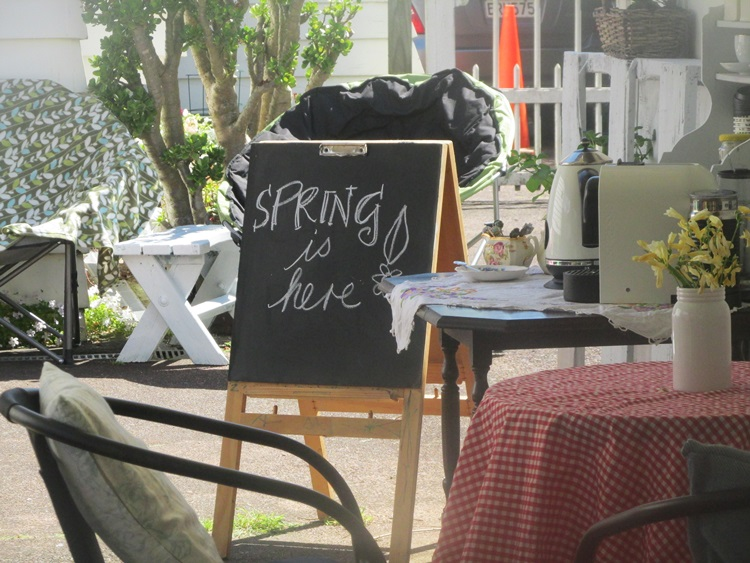 Spring is here - chalkboard