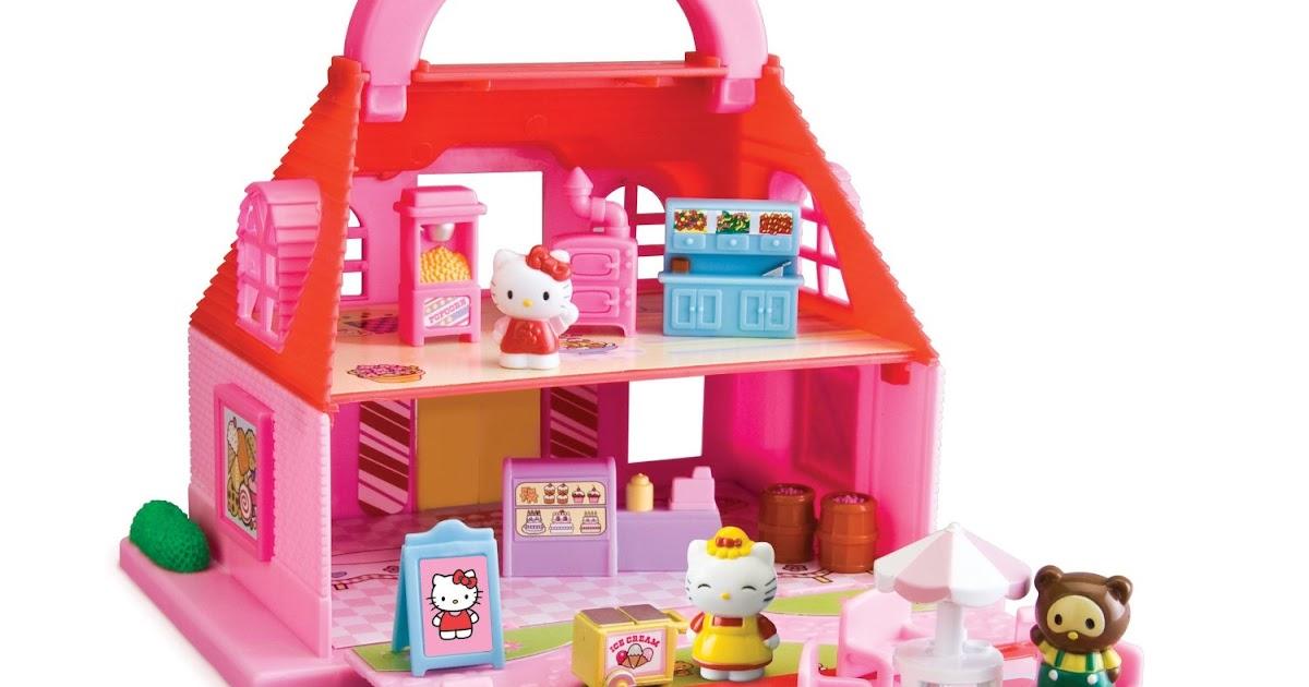 Coloriages a imprimer hello kitty jouet maison de - Maison de poupee hello kitty ...