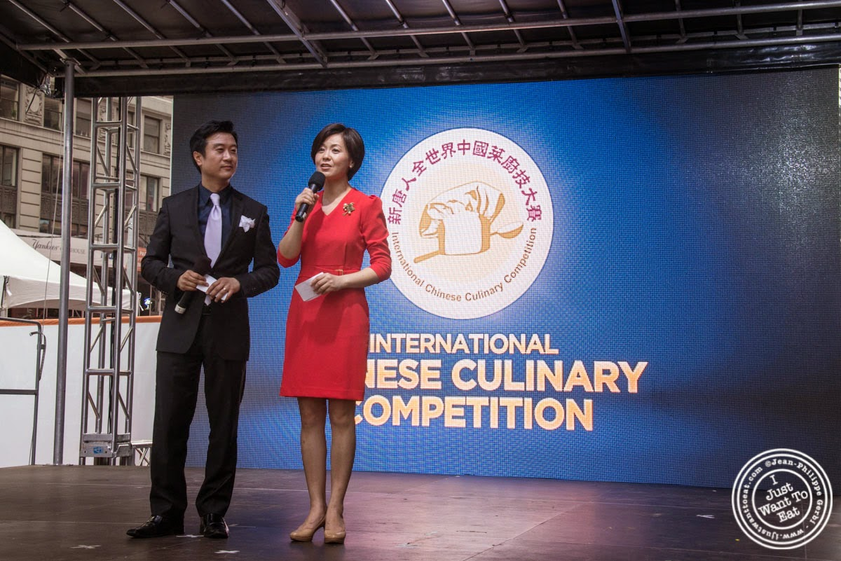 image of Kean Wong and Jenny at Taste of Asia 2014: Huaiyang cuisine cook off