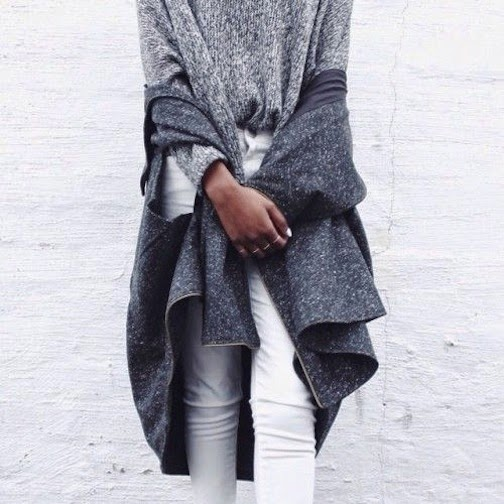 grey knit layers