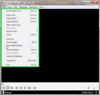 Превью для видеофайлов с помощью Media Player Classic