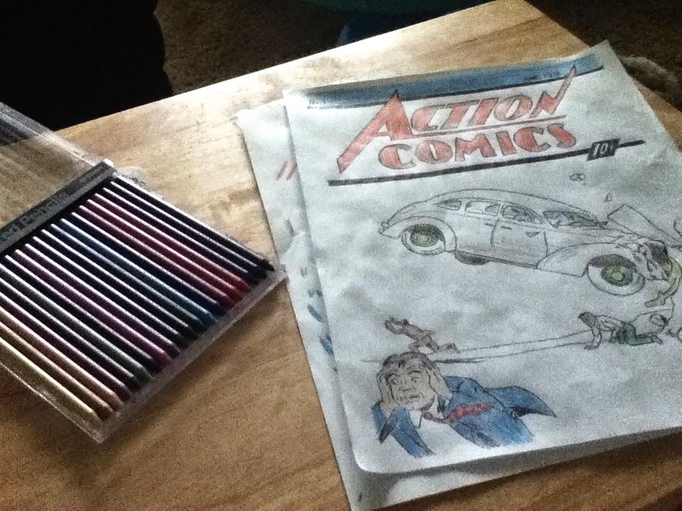 Action Comics #1 in Progress