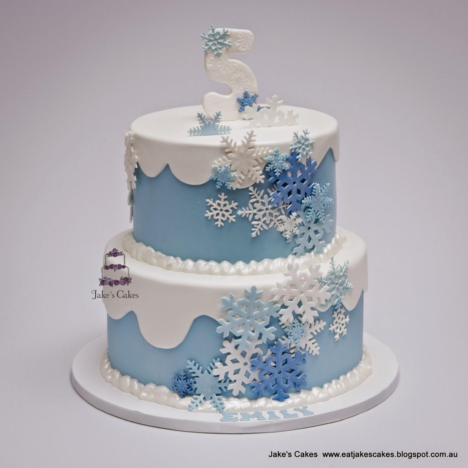 Jakes Cakes Frozen Snowflake Cake
