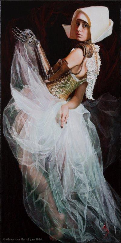 Alexandra Manukyan pinturas foto-realistas sensual fetiche