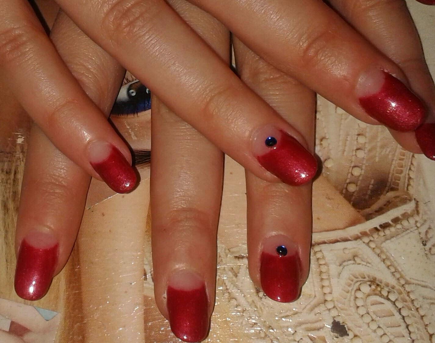 nail art marsala