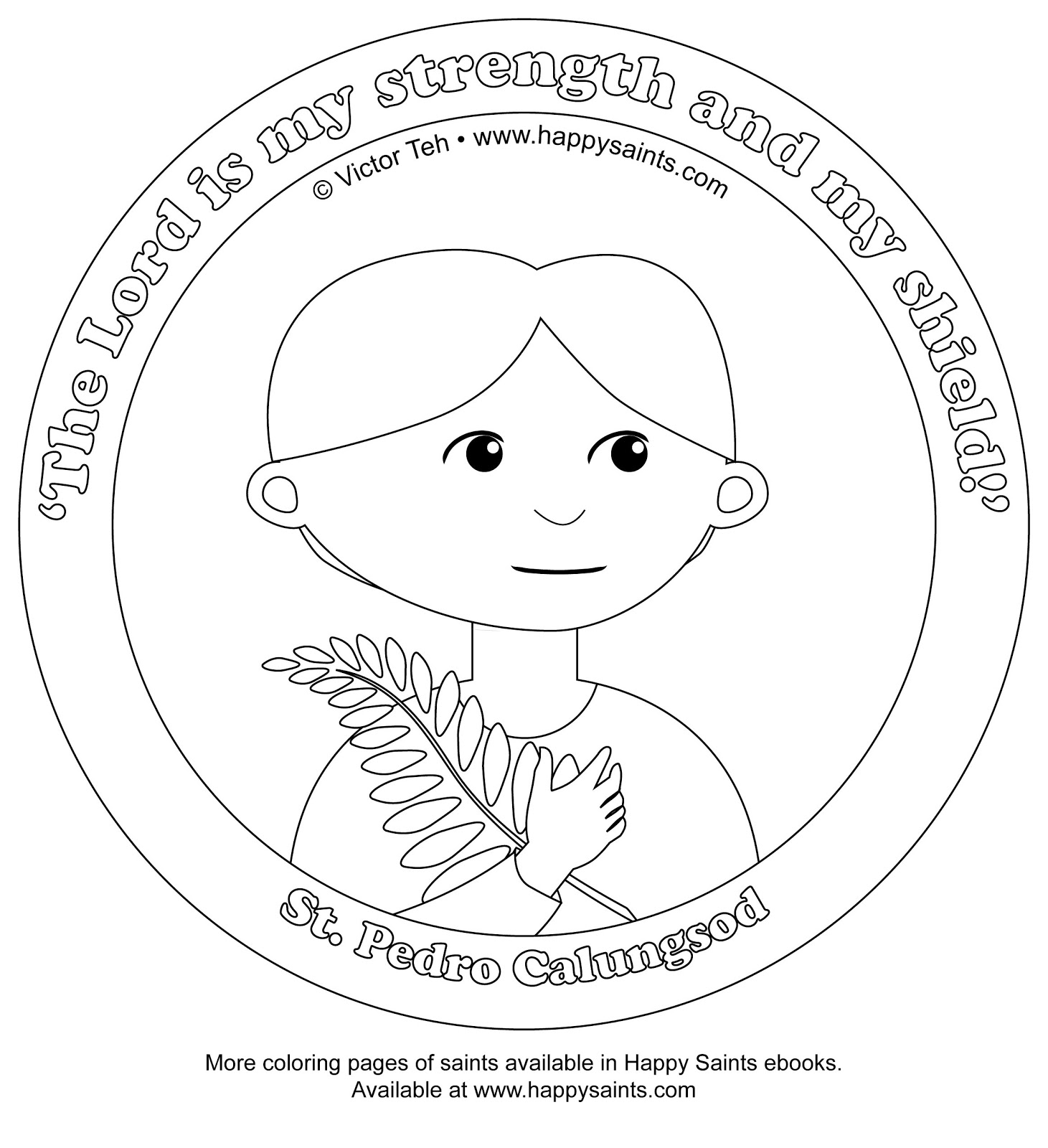 Coloring Pages Of St Pedro And Kateri
