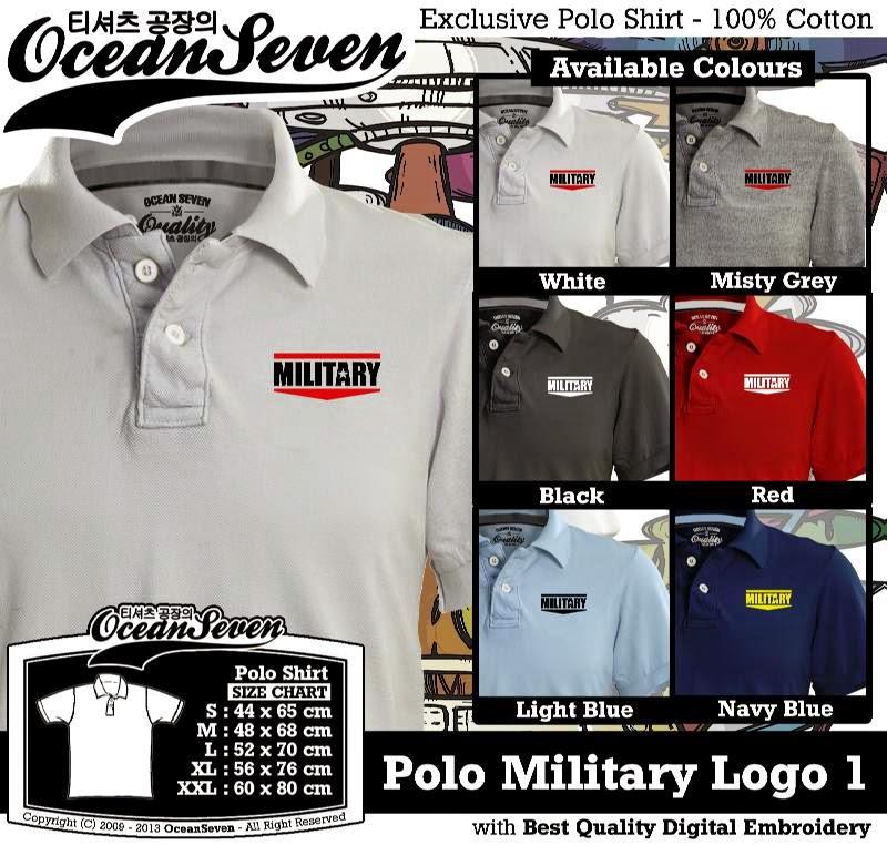 Kaos Polo Military Logo 1