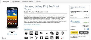 Sprint Samsung Epic 4G Touch now available