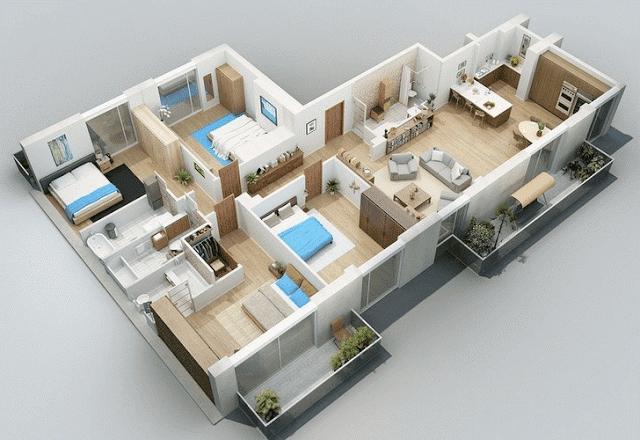 Rumah Minimalis Modern 2 Kamar Tidur