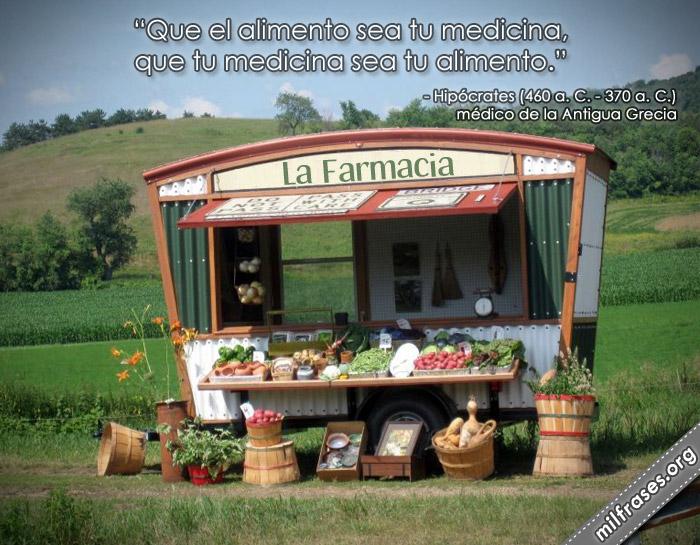 Que el alimento sea tu medicina, que tu medicina sea tu alimento - Hipócrates frases