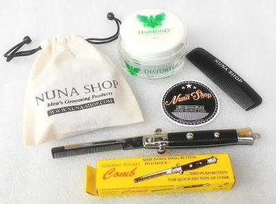 Paket Hemat Pomade Hairbond Distorter + Switchblade Comb (SB) + Pouch + Stiker + Sisir Saku