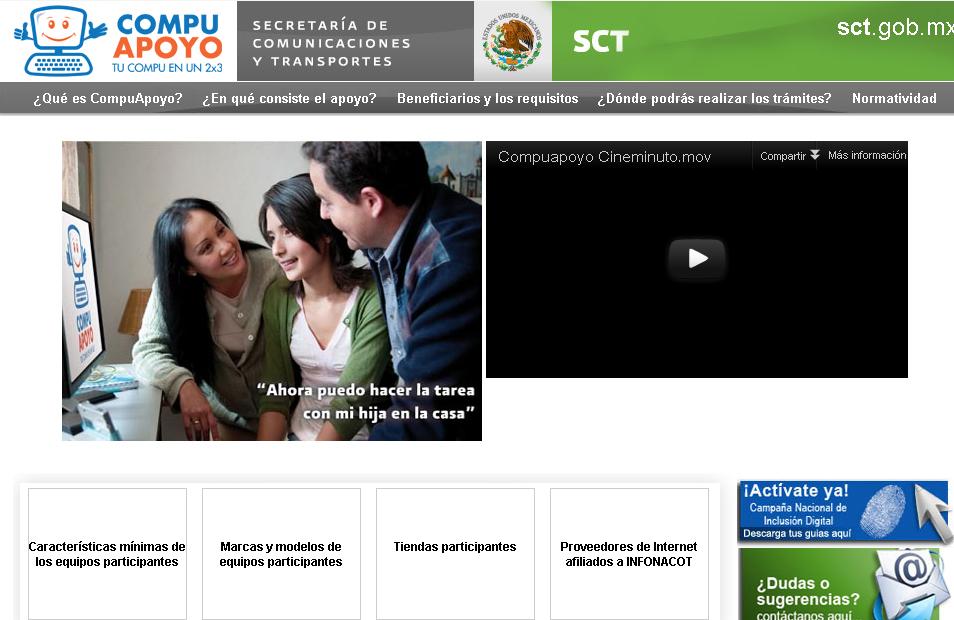 El programa CompuApoyo de Mexico entregará dinero para comprar una computadora